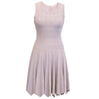 Alaia Lilac Pleated Dress