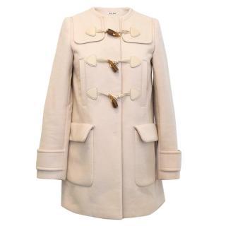 Miu Miu nude coat with toggles fastening