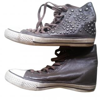 Ash Studded High Top Trainers