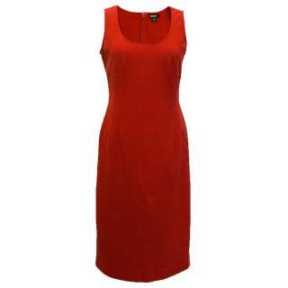 DKNY Red Sleeveless Dress