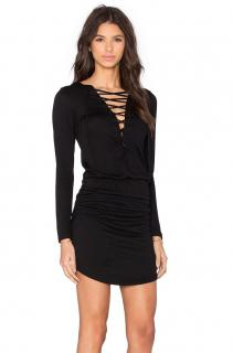 LNA Lace Up Dress