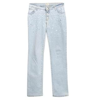 Blumarine Jeans with Crystal Embellishments