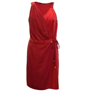 Liu Jo red slik wrap dress