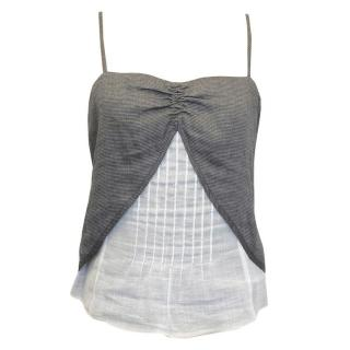 Emporio Armani Grey and Cream Camisole