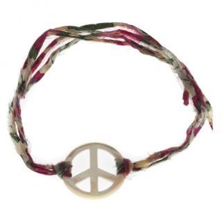 Aurelie Bidermann Mother of Pearl Peace Charm Bracelet