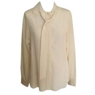 Moschino tie neck blouse