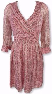 Armani Exchange Pink Print Silk Dress