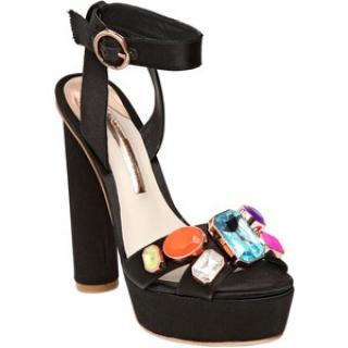 Elegant Black Sophia Webster Amanda Gem Platform Sandals