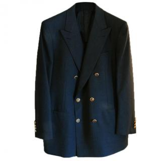 Brioni Luxury Navy Double Breasted Wool Blazer