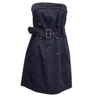 Philosophy di Alberta Ferretti Navy Strapless Dress