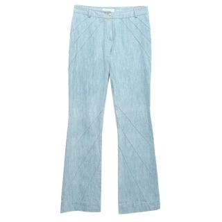 Christian Dior light blue wide leg jeans