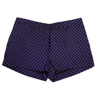 Osman Blue and Black Honeycomb Pattern Shorts