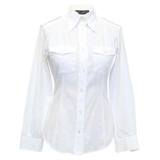 Dolce & Gabbana White Long Sleeved Smart Shirt