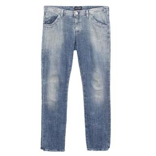 Armani Jeans straight cut washed out jeans