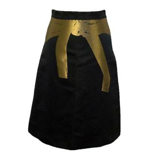 Osman black and gold skirt