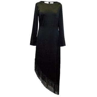 Osman Yousefzada black dress with fringe