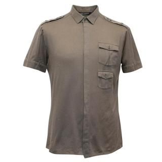 Neil Barrett Brown Short Sleeved Shirt