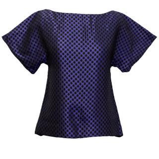 Osman blue and black honeycomb top