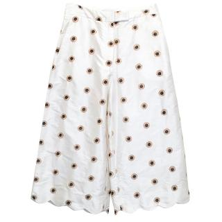 Osman White Culottes with Gold and Black Dots