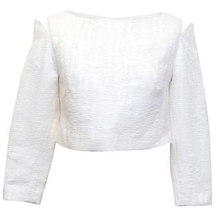 Osman white long sleeve crop top
