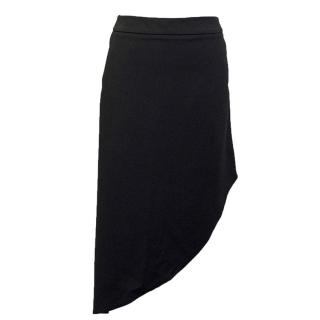 Osman black asymmetrical skirt with pockets