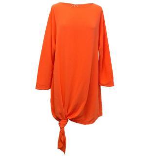 Osman Orange Long Sleeve Dress