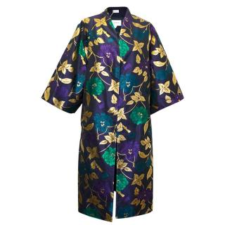 Osman Floral Patterned Raglan Coat