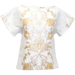 Osman cream top with gold baroque detail