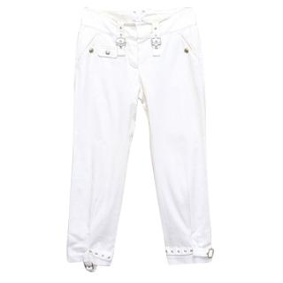 Christian Dior white trousers
