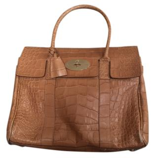 Mulberry Croc Embossed Bayswater