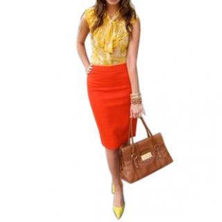 Christian Lacroix Pencil Skirt Ab Fab - Orange