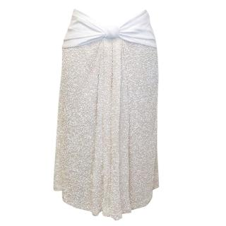 Osman Yousefzada white sequin skirt