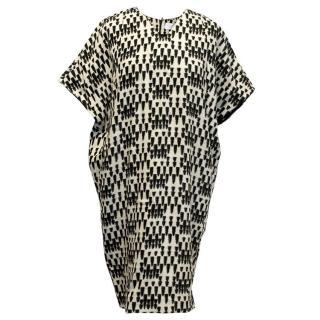 Osman Black and White Bullet Print Dress