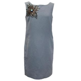 Osman grey blue embellished dress