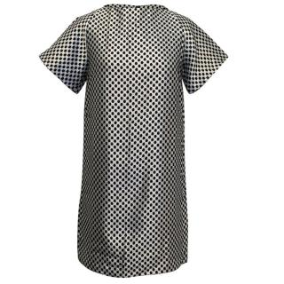 Osman Silver and Black Honeycomb Dress