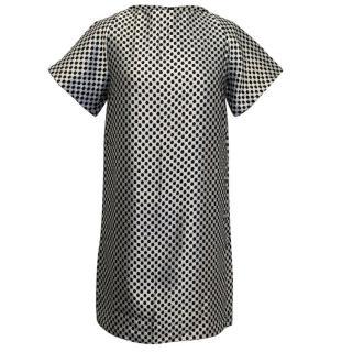 Osman Silver and Black Honeycomb Dress