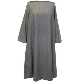 Osman grey long sleeve loose fit dress