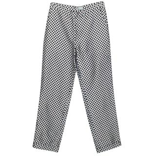 Osman black and silver honeycomb trousers