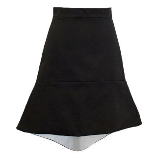 Osman black skirt with white lining