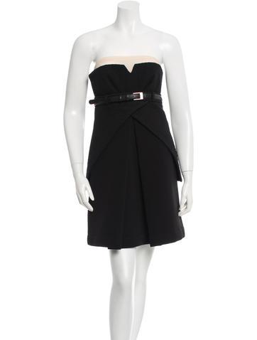 Preen Belted strapless dress