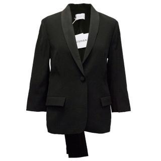 Osman black 3/4 sleeve blazer