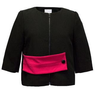 Osman Pink Belted Black Jacket