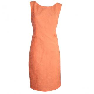 Luisa Cerano fluro orange dress