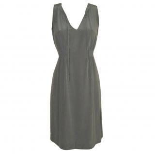 The White Company grey silk dress
