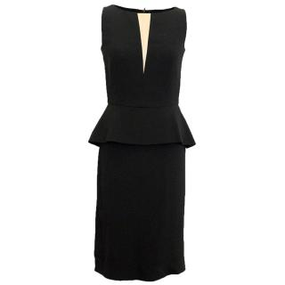 Osman Black Sleeveless Dress with Gold Triangle