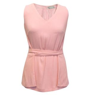 Osman pink sleeveless top with waist belt