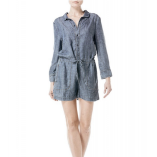 Level 99 blue jean romper