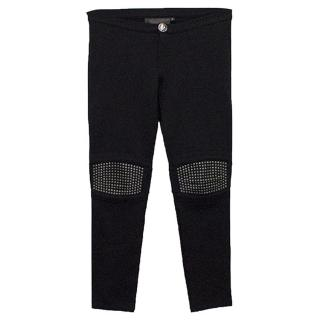 Philipp Plein Black Jersey Trousers with Studs