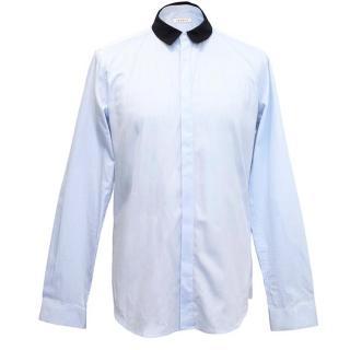 Sandro blue shirt with dark blue collar