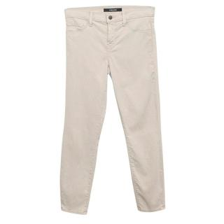 J Brand  'Concrete Dust' Capri Trousers